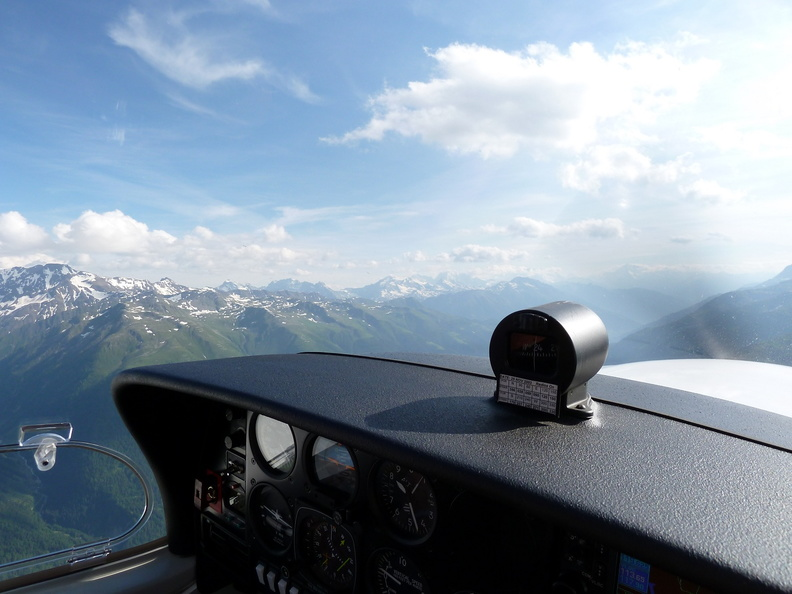 Flight in the swiss alps
