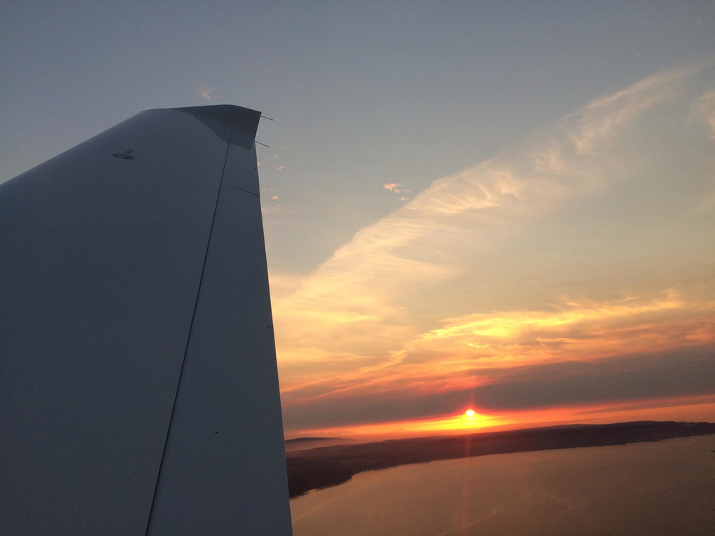 high wing sunset