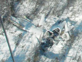 DA40, near border of Maine/Quebec, March 7, 2011
