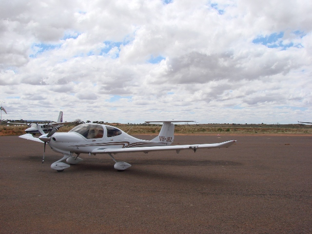 Robins Plane VH- JRZ in the Outback
